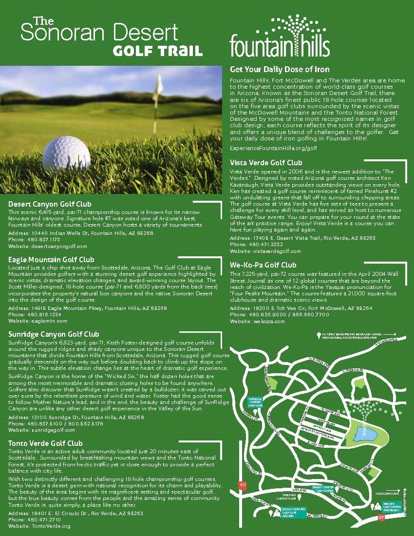 Golfing in Fountain Hills