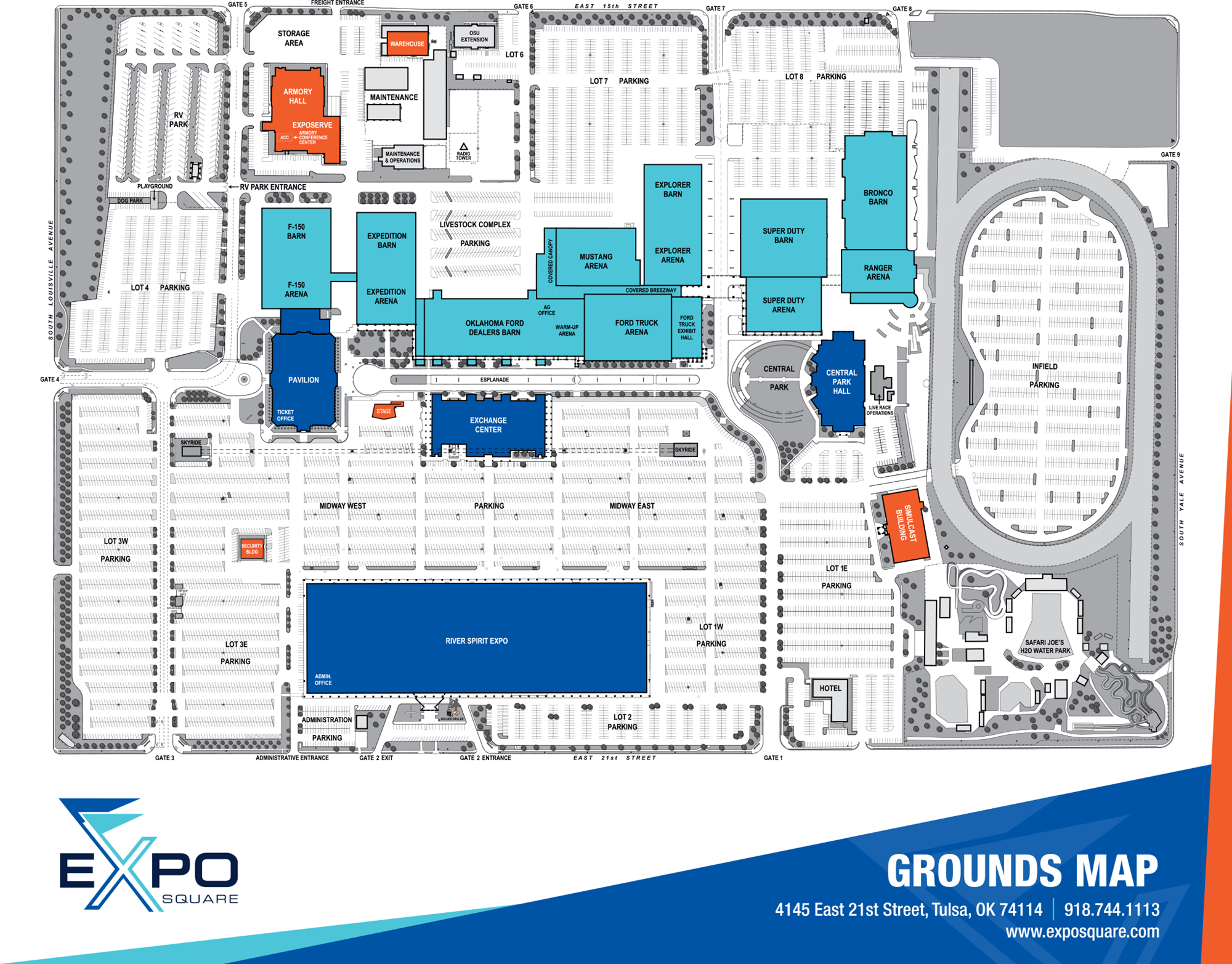 Expo Square Grounds Map