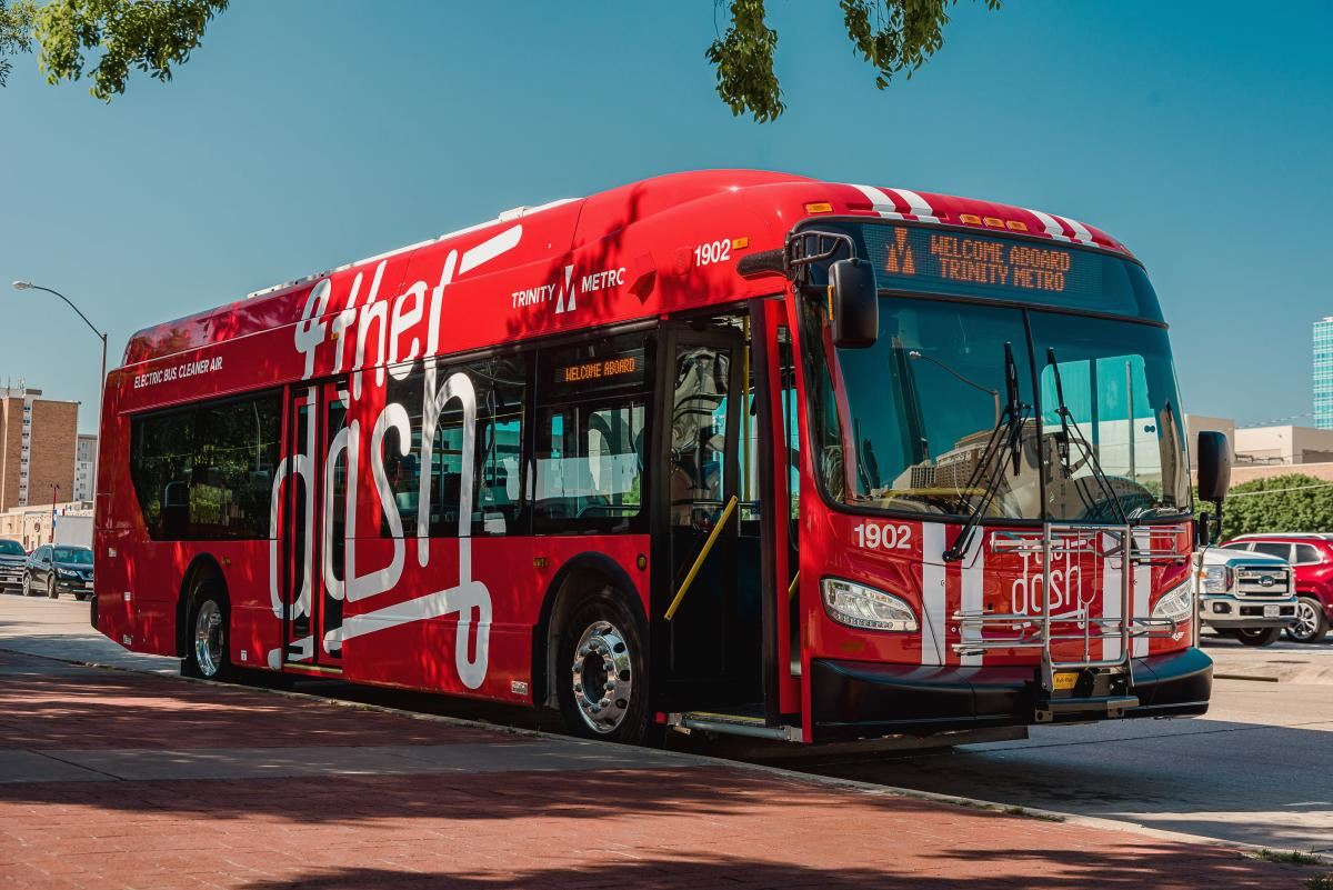 Fort Worth's First Electric Bus