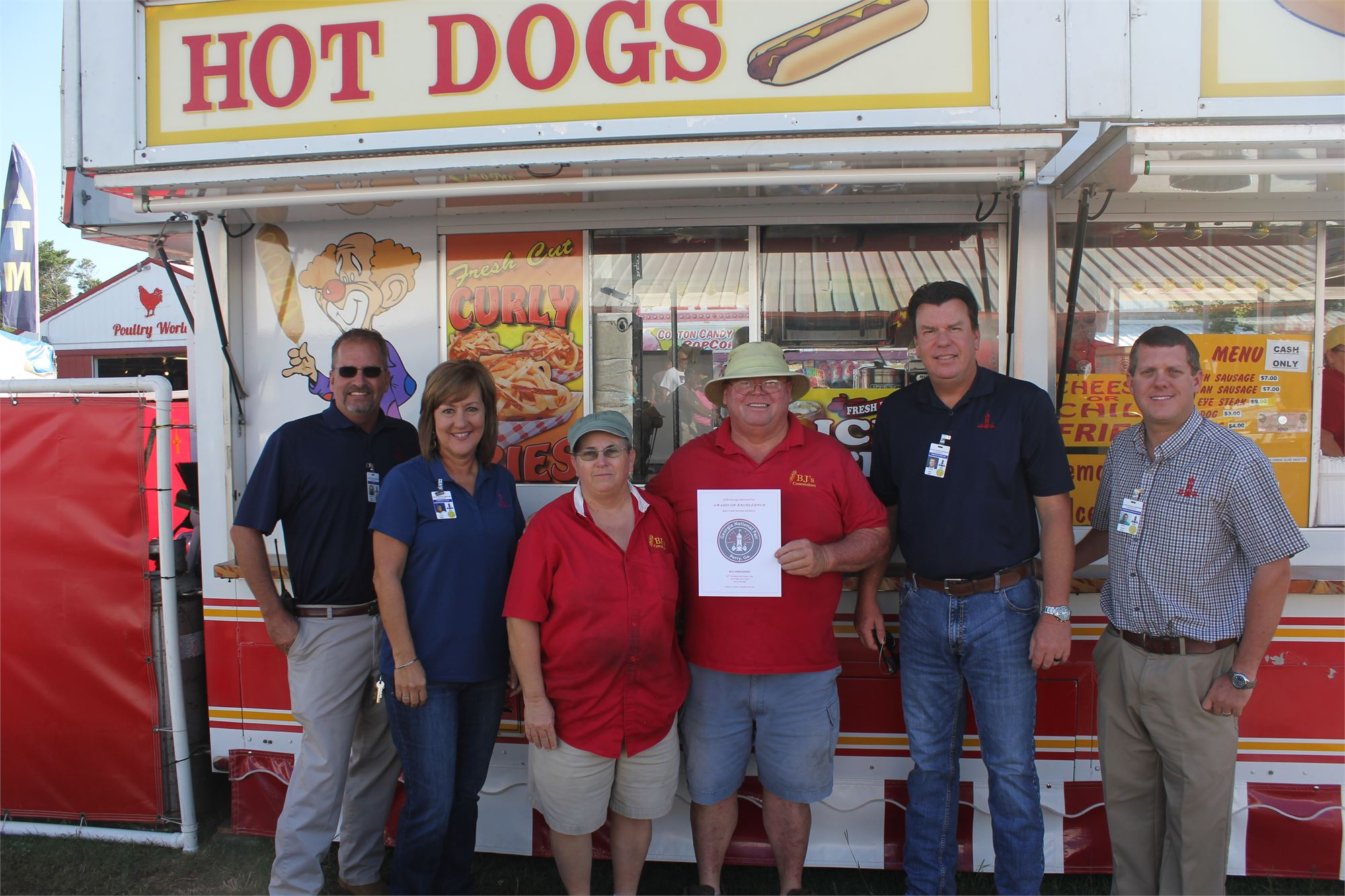 Best Food Service Exhibitor: BJ's Concessions