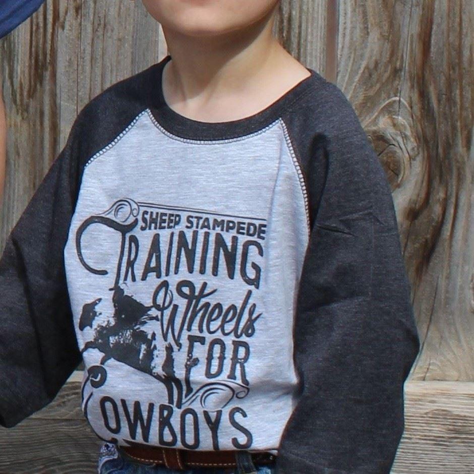 Training Wheels for Cowboys Kids' Baseball Tee