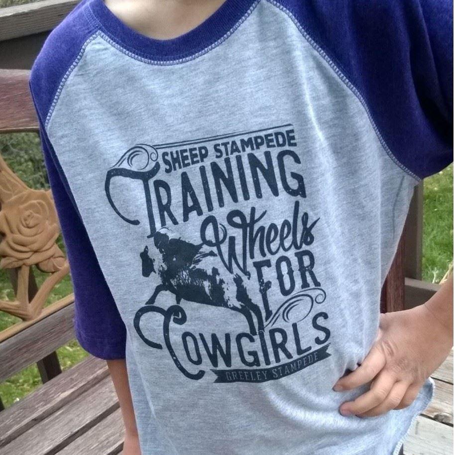 Training Wheels for Cowgirls Kids' Baseball Tee