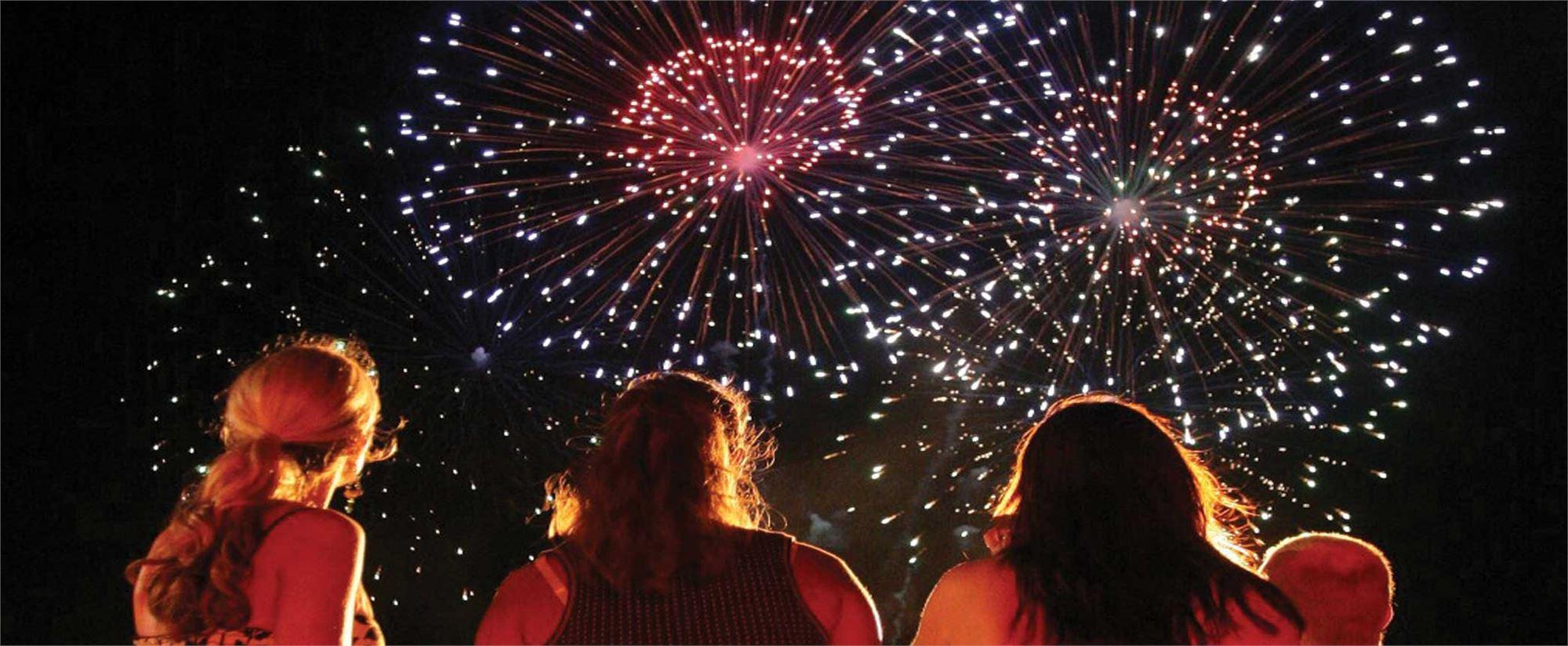 Fireworks West Island