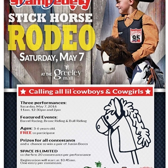Stick Horse Rodeo at the Greeley Mall May 7th