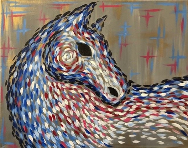 Patriotic Abstract Horse