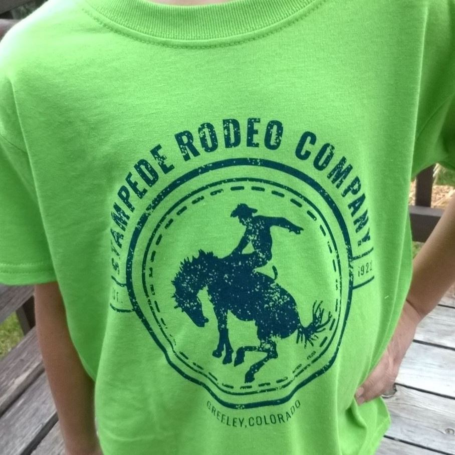 Green Stampede Rodeo Co. Tees