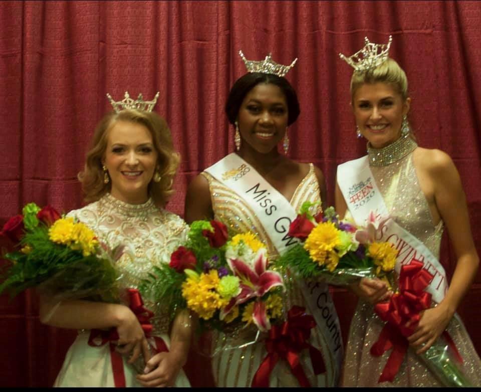 Miss Gwinnett County 2020 Taylor Burrell, Miss Gwinnett County's Outstanding Teen 2020 Savannah Stevens and Miss Historic Gwinnett's Outstanding Teen 2020 Jessica Acord.