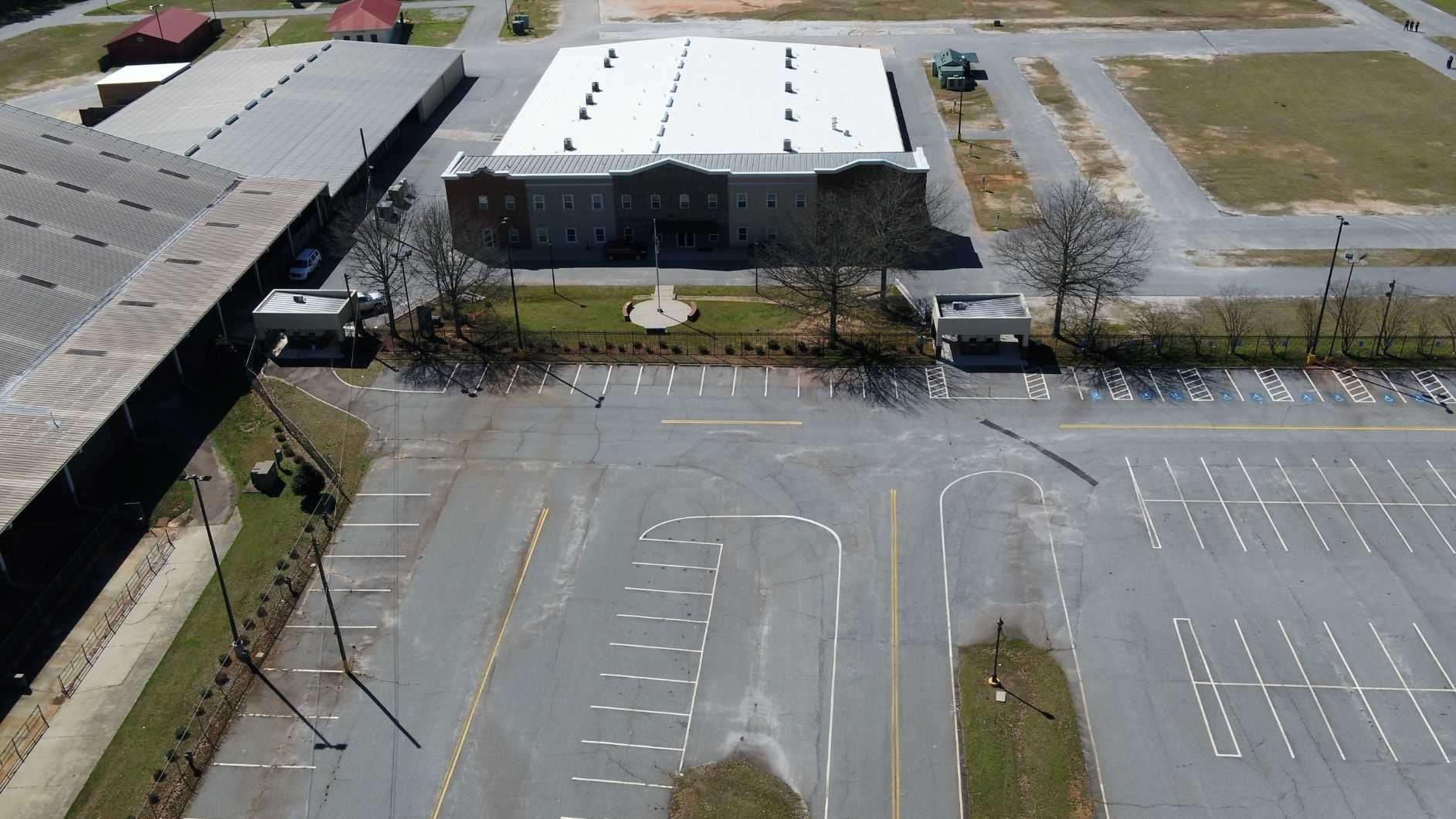 Expo Center building from 500 feet up