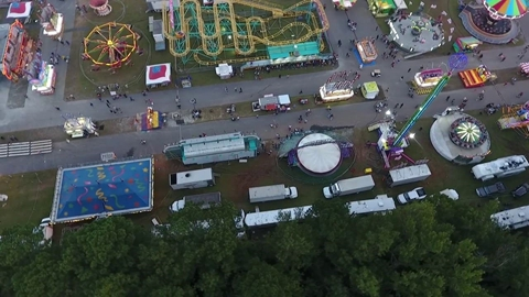Fairgrounds Drone View