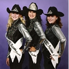 2000 Queen Rachael (Denniston) Gibson, Princess Cassie (Valdez) Suarez, Princess Lisa (Couch) Corbin