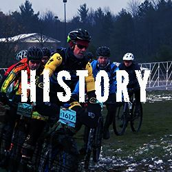 Iceman riders with the word history overlay hyperlinked to the history page