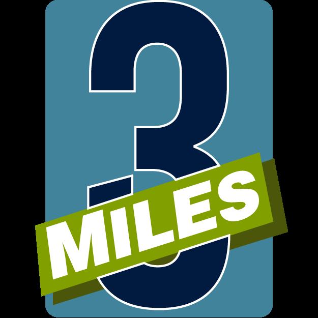 3-Miler Badge