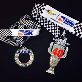 2016 OneAmerica 500 Festival Mini-Marathon & Finish Line 500 Festival 5K medals revealed
