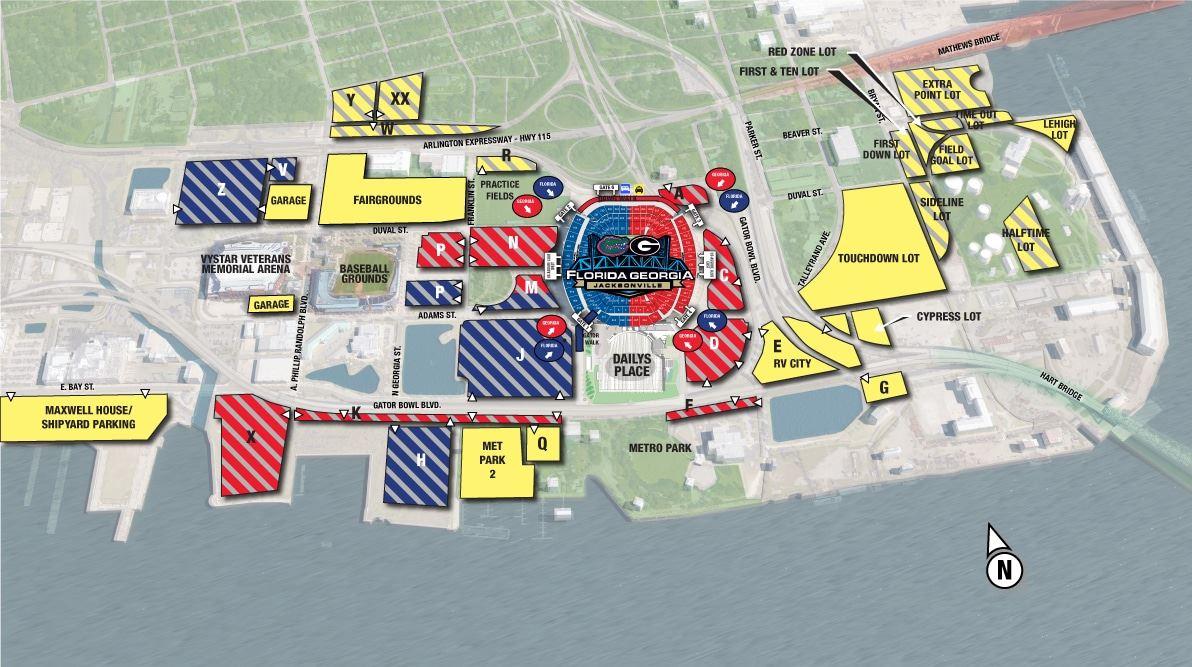 Sports Complex Parking Map
