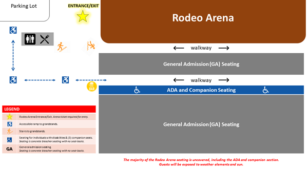 Rodeo Arena Seating Map