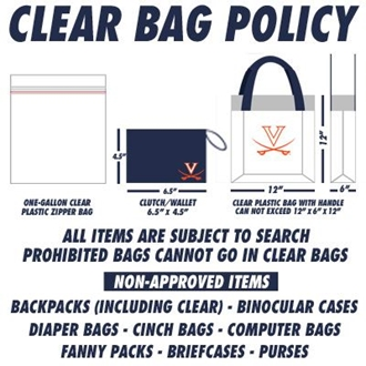 Clear Bag Policy instructions