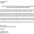 The Carpenter Foundation $5000
