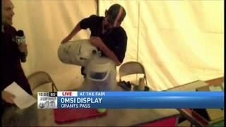 OMSI tent at Josephine County Fair NEWS 10
