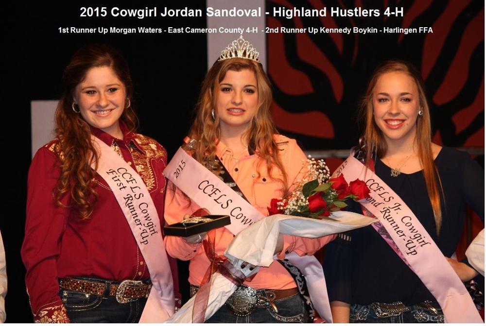 2015 Cameron County Livestock Show Cowgirl Winners