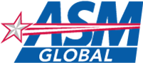 The logo for ASM global.