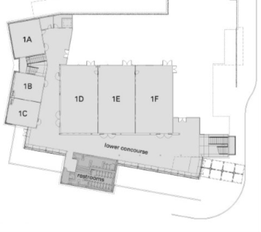 Lower level diagram of the Lynnwood convention center