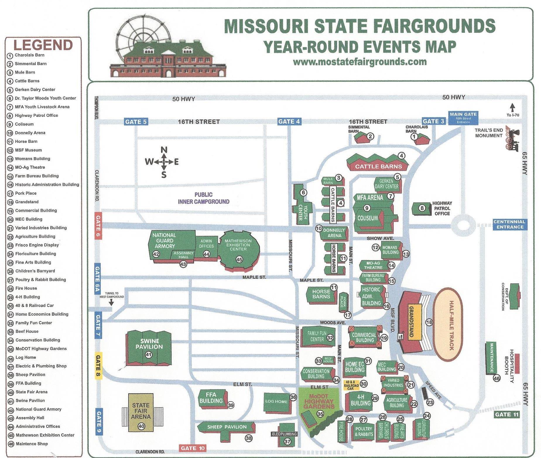Missouri State Fairgrounds Map