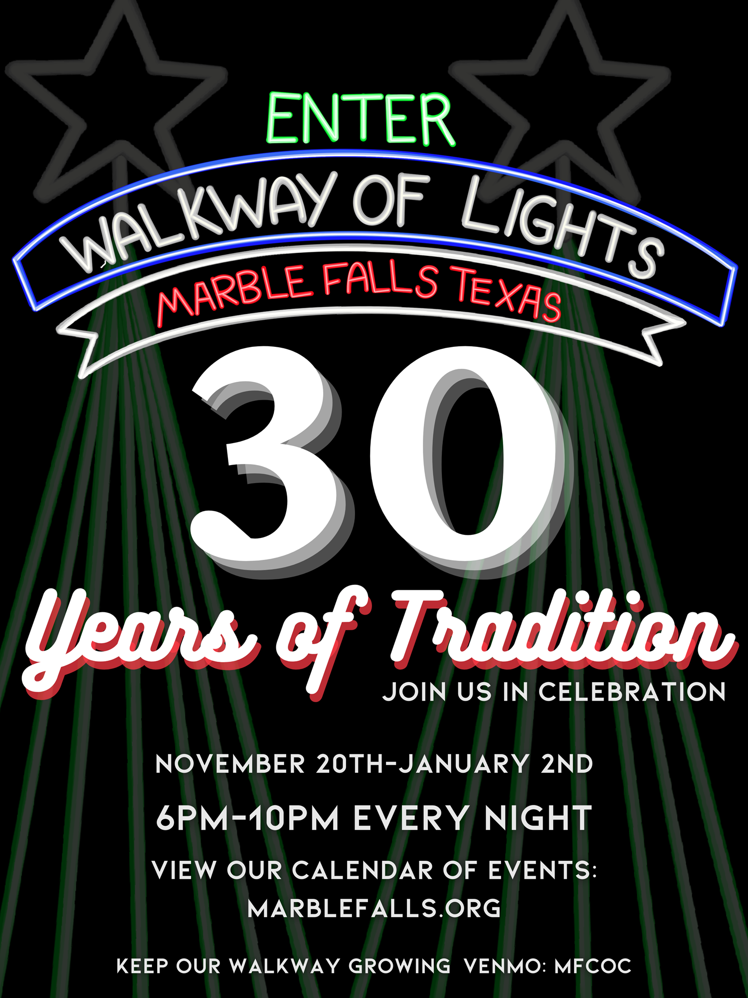 Marble Falls Christmas Lights 2020 The Walkway of Lights 2020