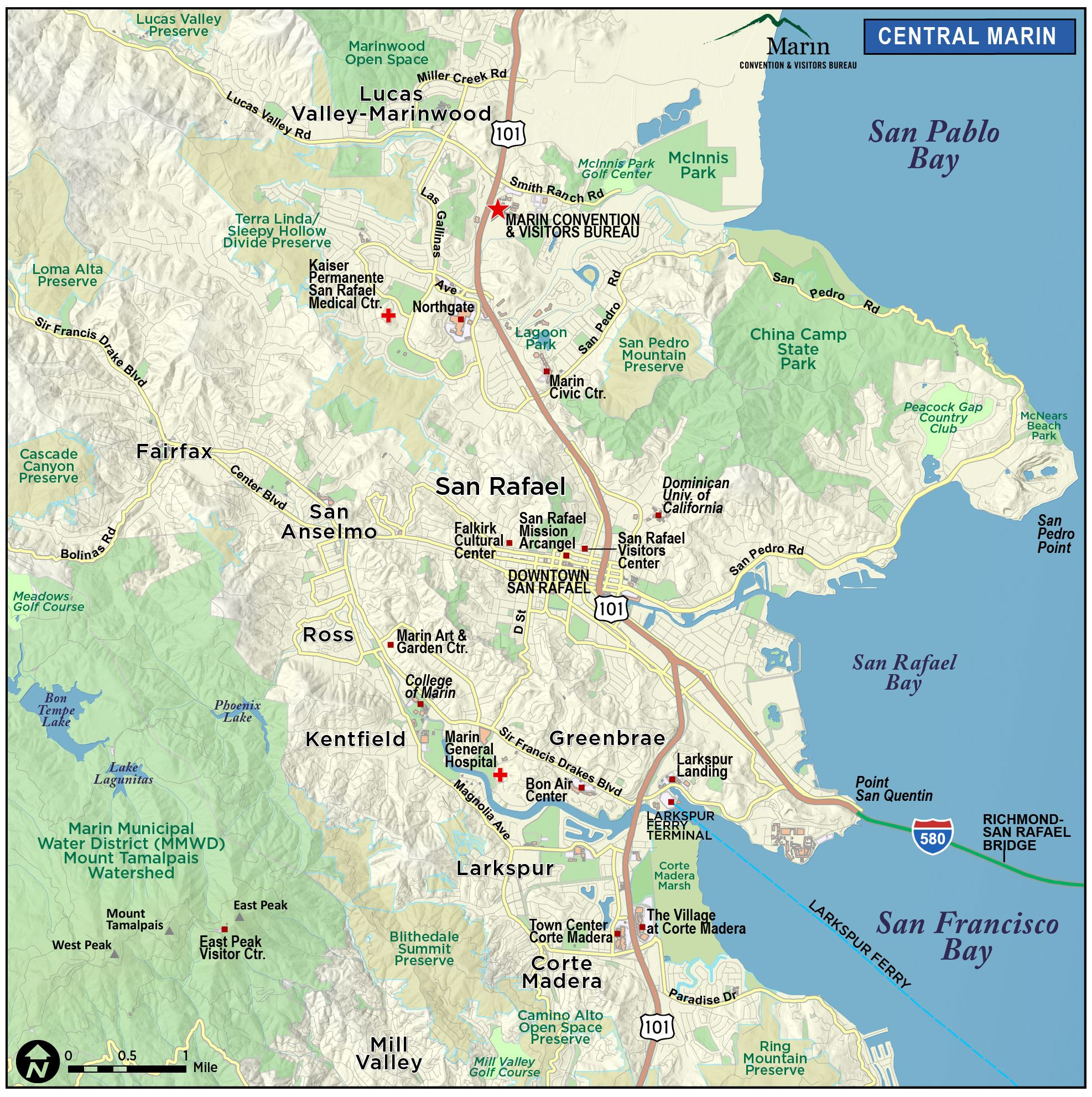 Map of Marin & Directions