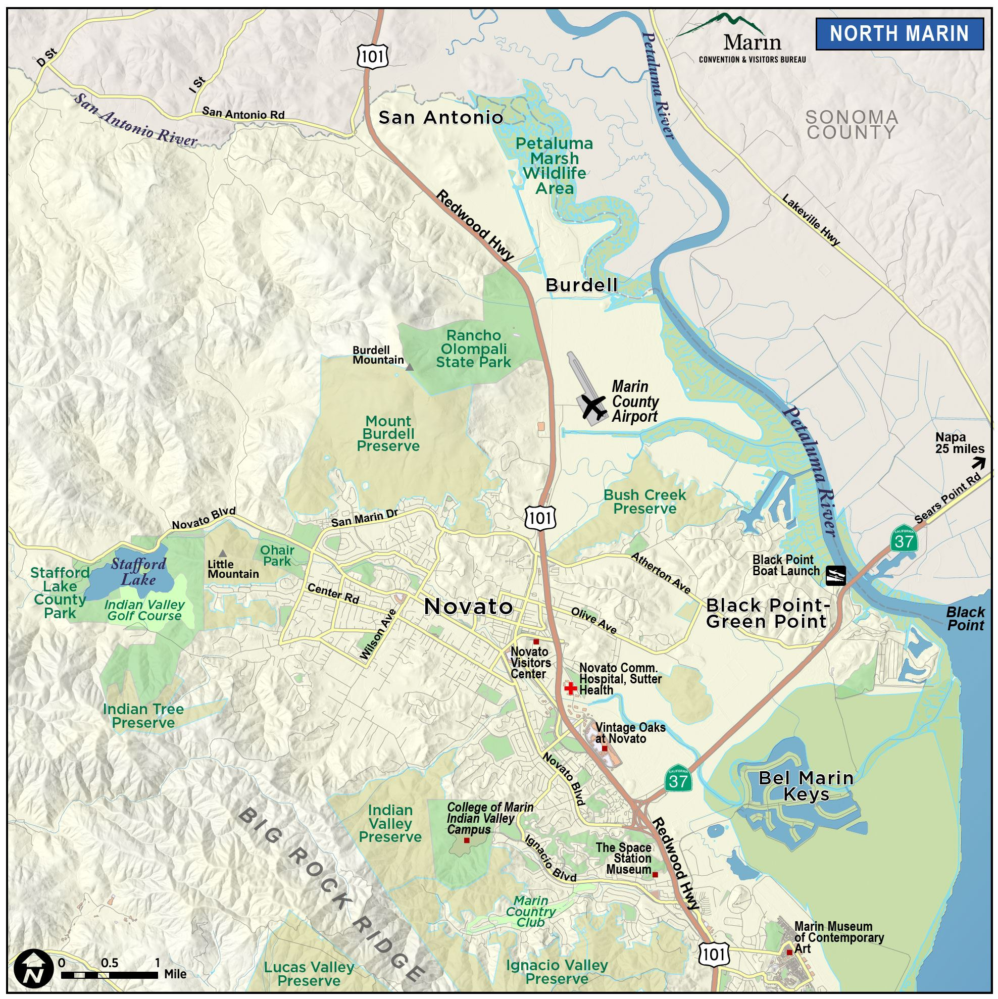 Map Of Marin Directions