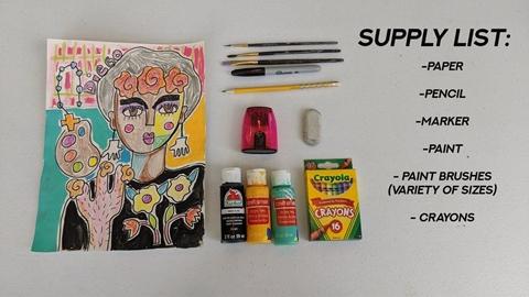 MAC Doodles: Who is Frida Kahlo