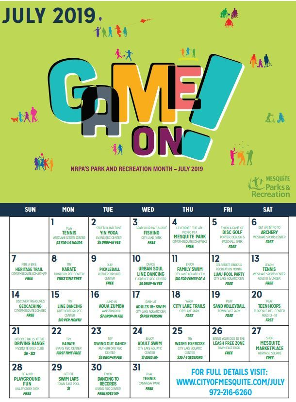 July Parks and Recreation Month Celebration
