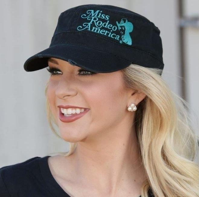 Turquoise Military Cap