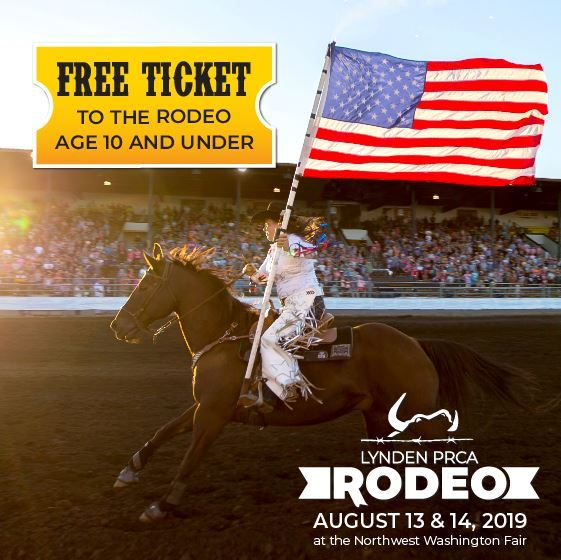 Lynden PRCA Rodeo FREE for kids age 10 and under!