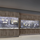 Artist rendering of a museum exhibit featuring a timeline