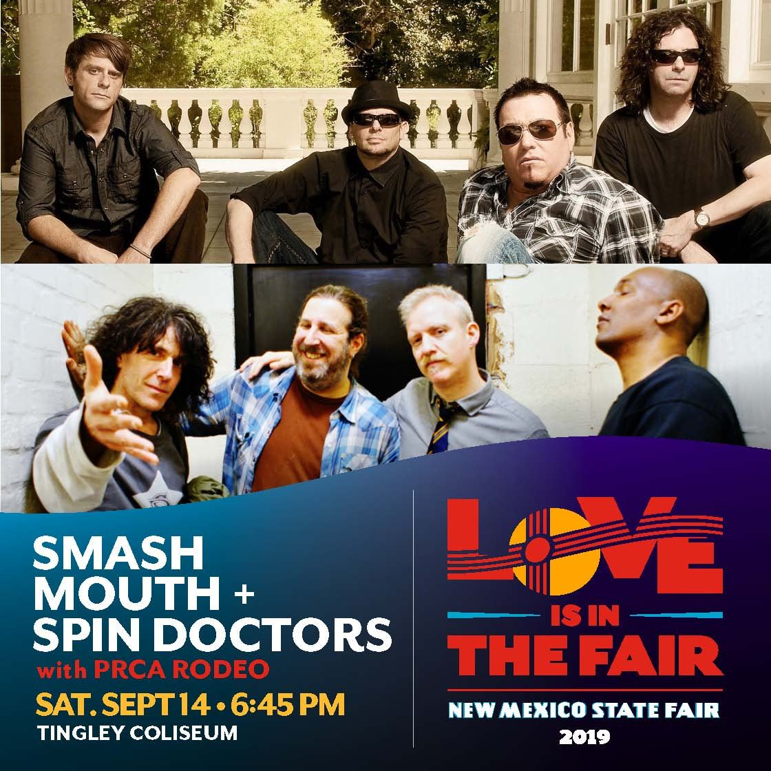 Smash Mouth + Spin Doctors with PRCA Rodeo
