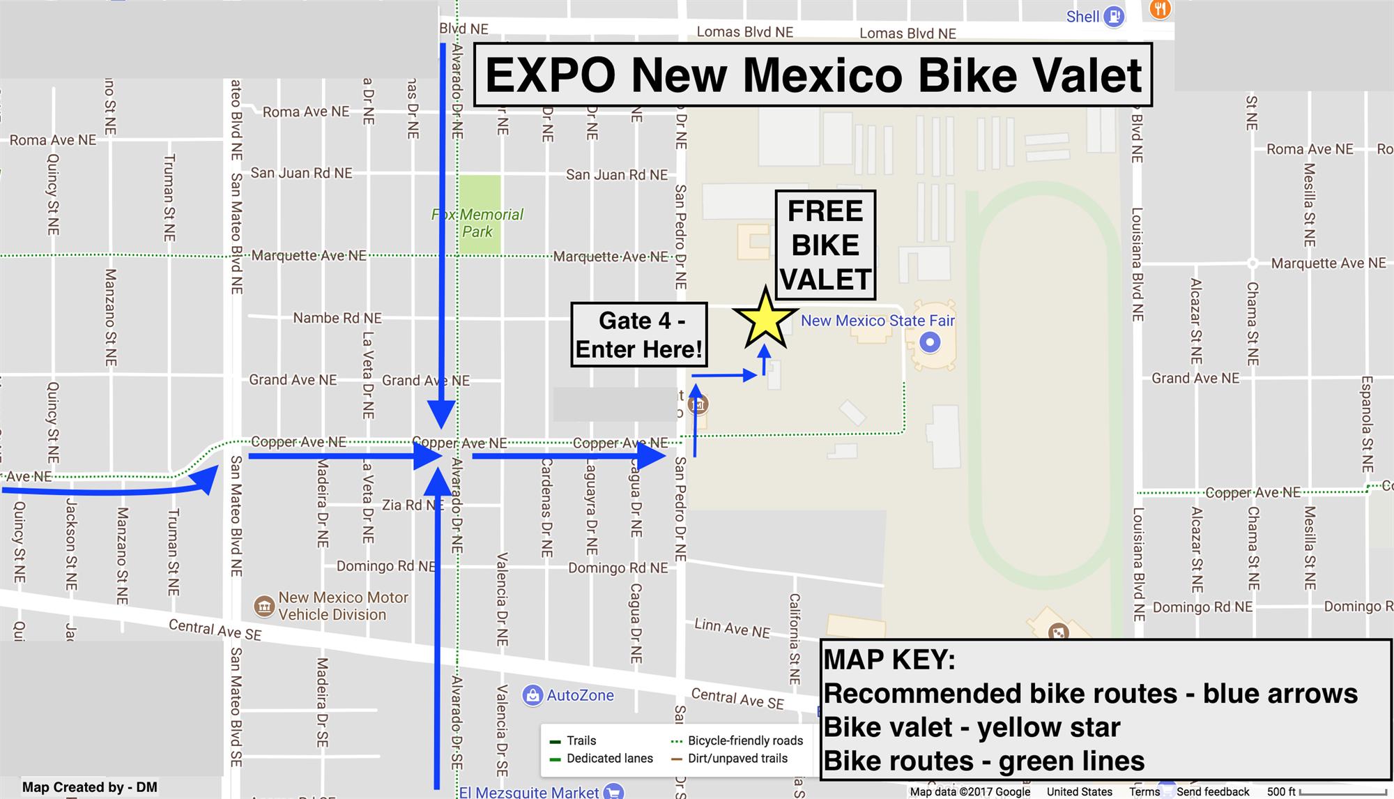 bike map. getting here