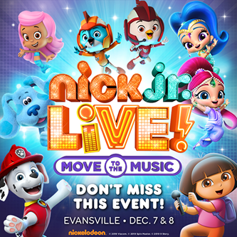 """Get the Party Started with Nick Jr. Live! """"Move to the Music"""" in Evansville"""