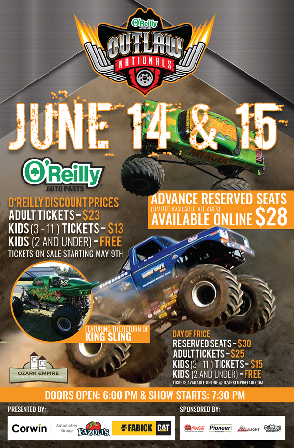 O'Reilly Auto Parts Outlaw Nationals Monster Truck Show