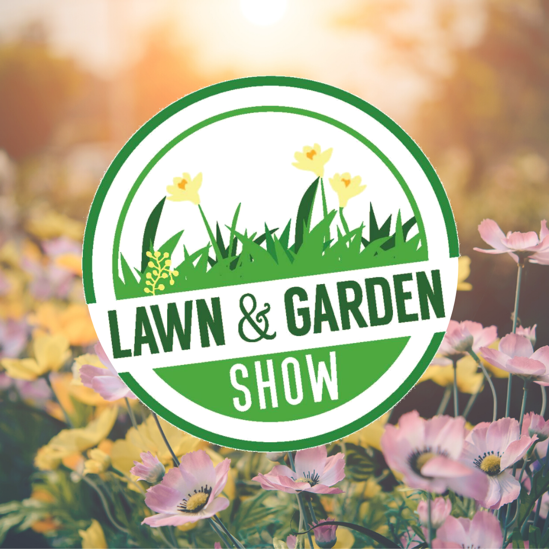 Lawn & Garden logo with flowers