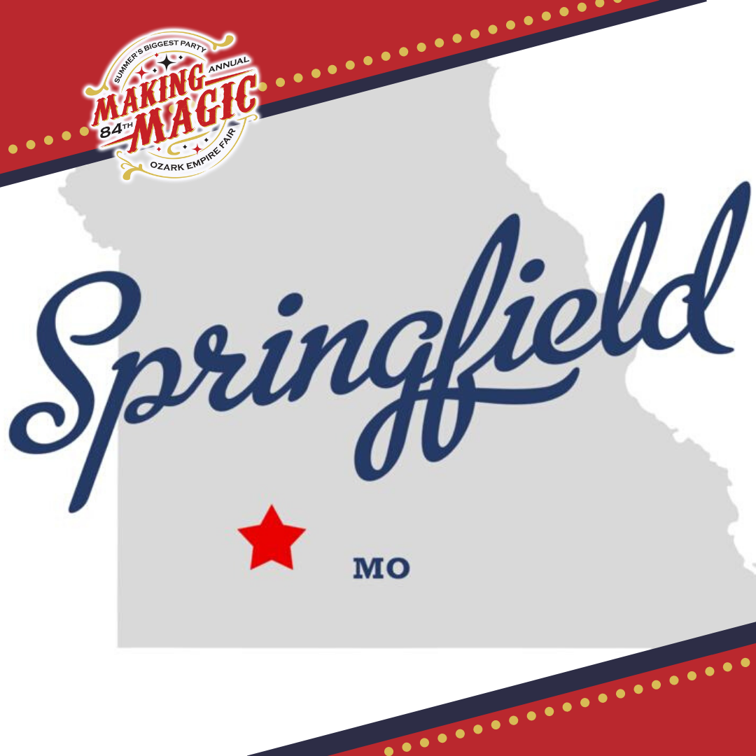gray outline of Missouri with Springfield marked with a star
