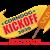 Corndog Kickoff Logo with a corn dog