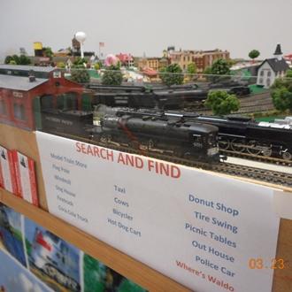 N-scale model train layout.