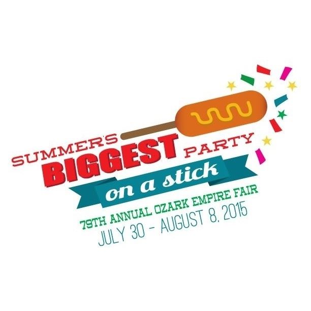 2015 Ozark Empire Fair Summer's Biggest Party On a Stick Logo