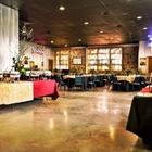 Inside Boot Daddy Saloon with a buffet and round tables set up