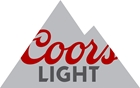 Coors Light grey mountain logo