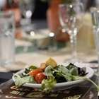 Close up of a salad on the table