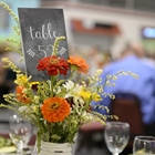 Close up of table decor