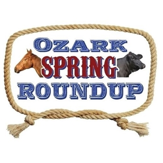 Ozark Spring Roundup logo with a horse and cow head