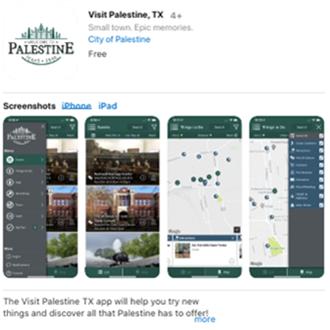 Visit Palestine, TX Mobile App (Apple)