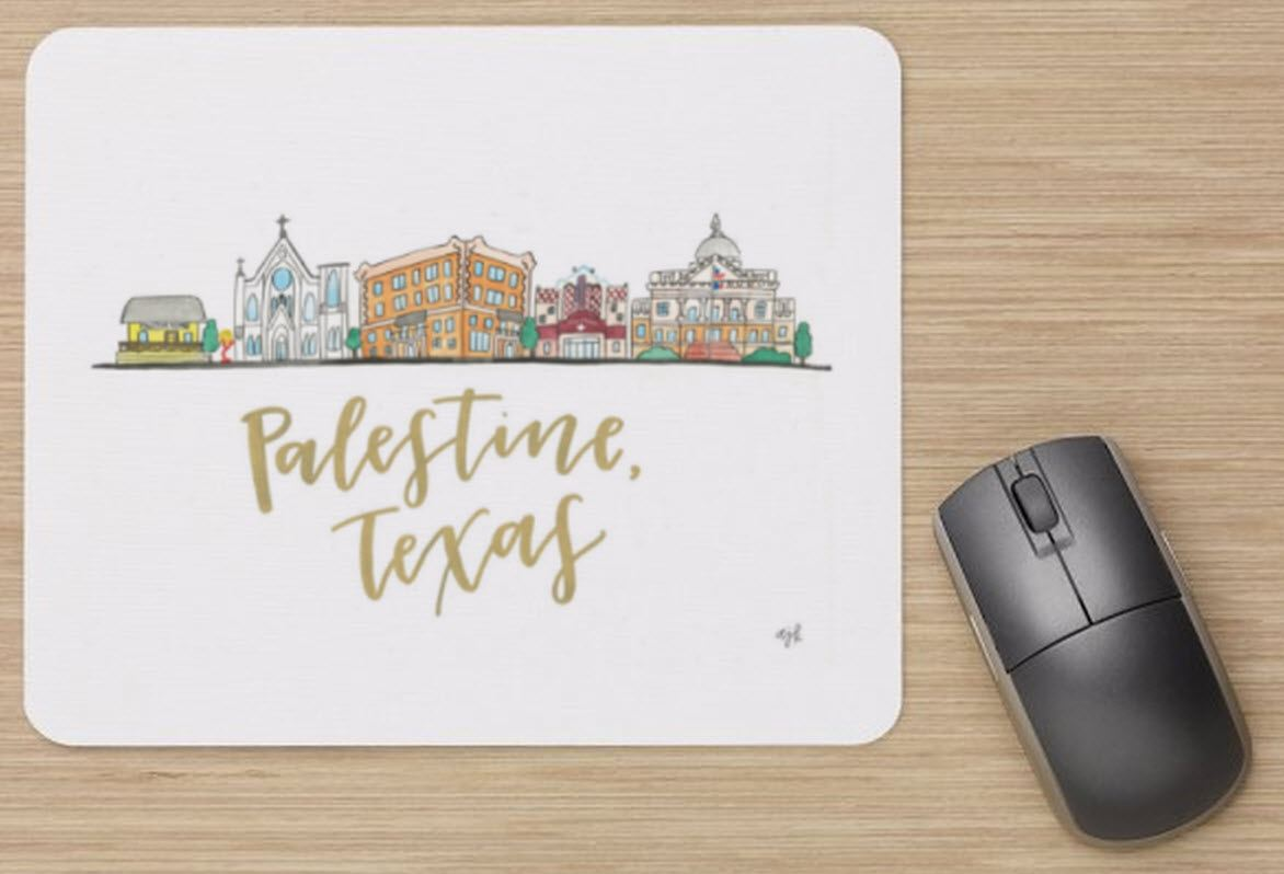 Main Street Skyline Mouse Pad
